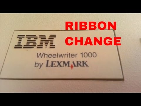 IBM Wheelwriter Typewriter Ribbon Install Demo Tutorial Lexmark Electronic