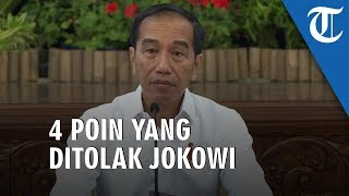 VIDEO: Presiden Jokowi Tolak 4 Poin Terkait Revisi UU KPK yang Diusulkan DPR