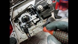 Маленькие хитрости китайской бензопилы/ПОДТЕКАЕТ МАСЛО КАК УСТРАНИТЬ.Little tricks Chinese chainsaw