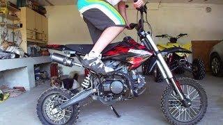 Mini Cross 124cc   Pitbike Minibike   Mały motor motocykl crossowy   Motorcycle exhaust engine