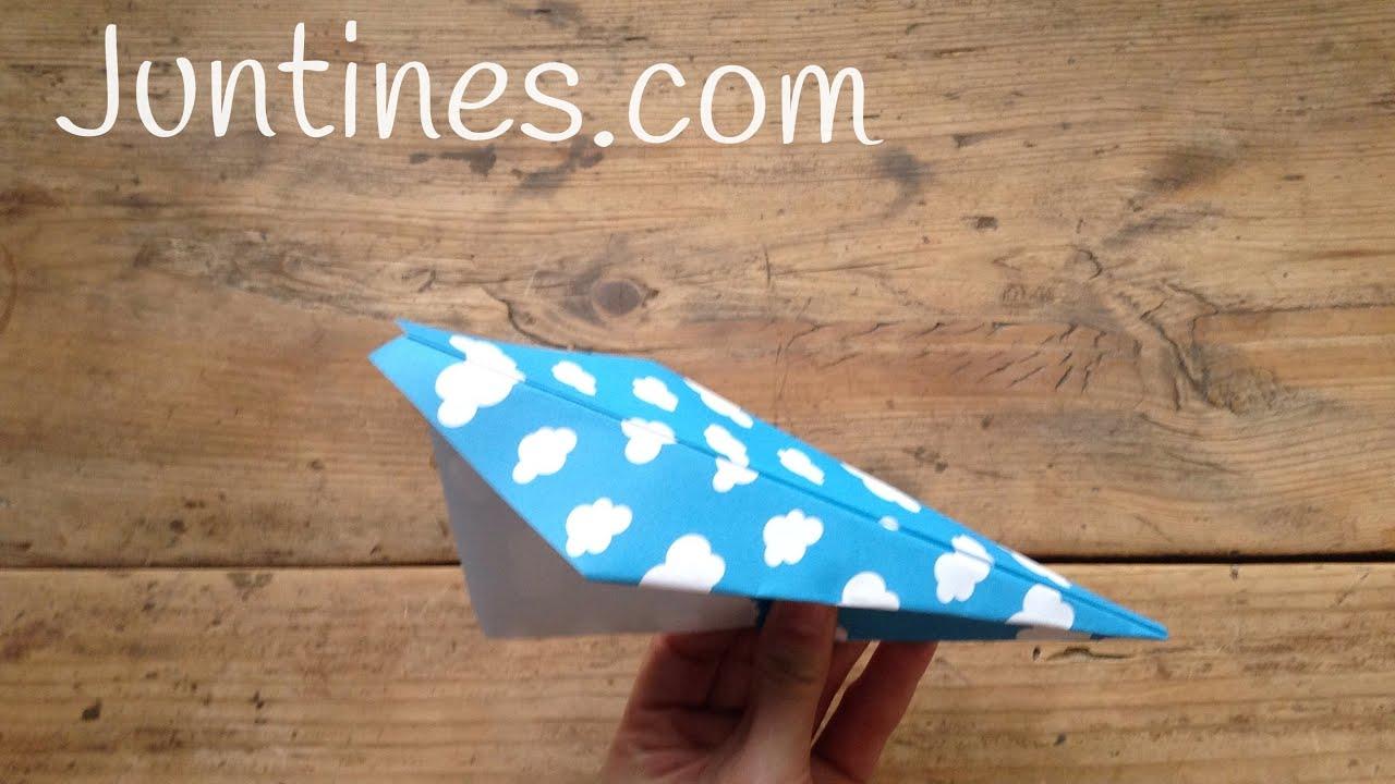 Avión de papel fácil - Origami para niños