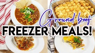🤩 8 GROUND BEEF FREEZER MEALS FOR $50!! 💵 FREEZER COOKING ON A BUDGET 😀 COOK WITH ME