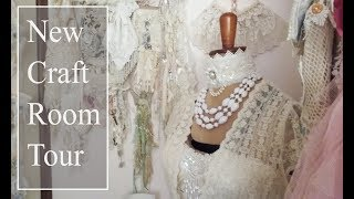 Craft Room Tour Shabby Vintage Style - Low Budget
