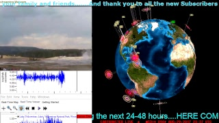 LIVE Earthquake Data..Earthquake 3D Monitoring. Cascadia Subduction zone, Yellowstone,