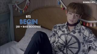 [3D+BASS BOOSTED] BTS (방탄소년단) JUNGKOOK - BEGIN (HAN/ROM/ENG)   bumble.bts