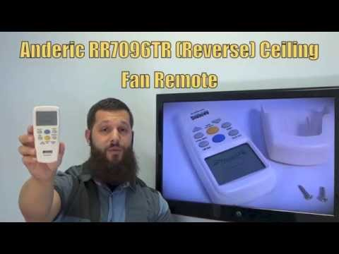 ANDERIC RR7096TR Ceiling Fan Remote Control