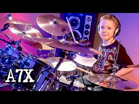 Beast and the Harlot - A7X (Drum Cover) 7 year old Drummer - Avery Drummer Molek