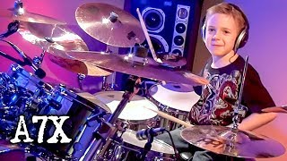 BEAST AND THE HARLOT - A7X (7 year old Drummer) Drum cover by Avery Drummer Molek