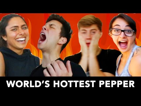 EATING THE WORLD'S HOTTEST PEPPER with Team 10! 🌶 🔥