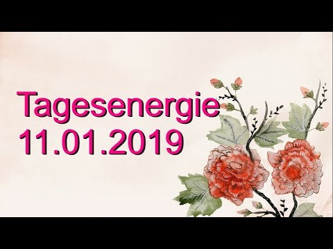 Fernöstliche Tagesenergie: 11.01.2019 (Freitag)