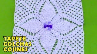 Cuadrado O Muestra A Crochet En Punto Hojitas En Relieves Para Colchas, Cobijas Y Mantitas De Bebe