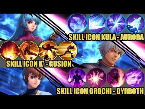 NEW ICON SKILL FOR SKIN GUSION, DYRROTH AND AURORA KING OF FIGHTERS