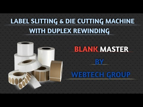 Blank Label Slitting Rewinding Machine with Die Cutting