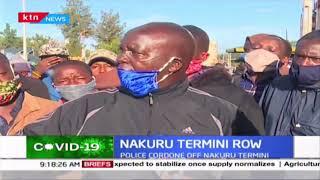 Police cordon off Nakuru termini following demonstrations by Matatu operators