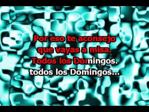 Todos los Domingos (con letra) - Sergio Denis, Wawanco (Karaoke)
