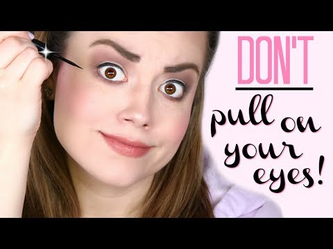 How To Apply EYELINER WITHOUT PULLING On Your Eye! |  Cait B