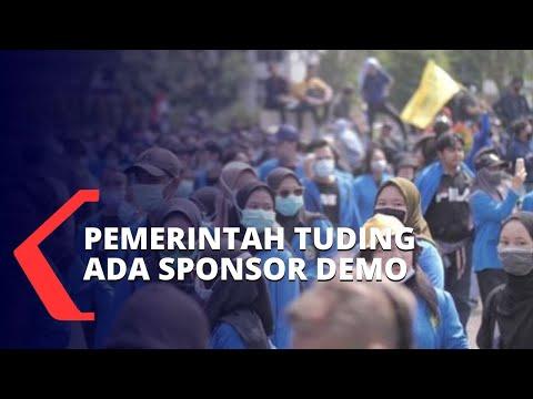 komnas ham pemerintah jangan tuding ada sponsor demo uu cipta kerja
