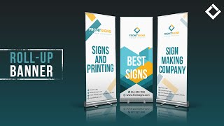 Front Signs Retractable Banner Stand Sign