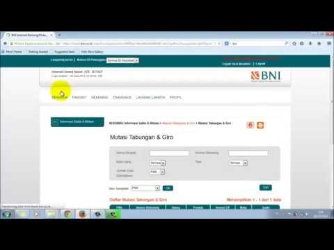 Tutorial Cara Menggunakan Internet Banking Bank Negara Indonesia BNI