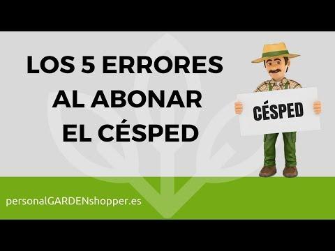 LOS 5 ERRORES AL ABONAR EL CÉSPED