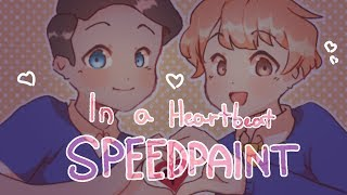 [SPEEDPAINT] In A Heartbeat fanart + Thank you for 1k!