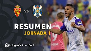 Highlights Real Zaragoza vs CD Tenerife (2-0)