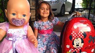 Видео для детей. Беби Бон и Маша собирают чемодан