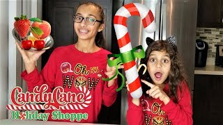 CANDY CANE vs REAL FOOD challenge!!