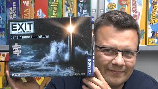 Exit Puzzle - Der einsame Leuchtturm (Kosmos) - ab 10 Jahre - hui, ganz schön knifflig!