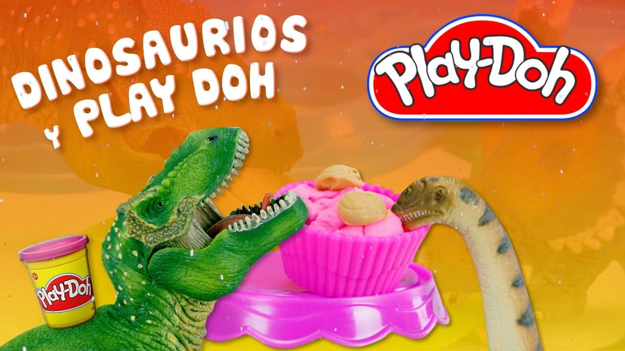 Navidad en Jurassic World con Play Doh | Aprende a hacer dulces con los dinosaurios