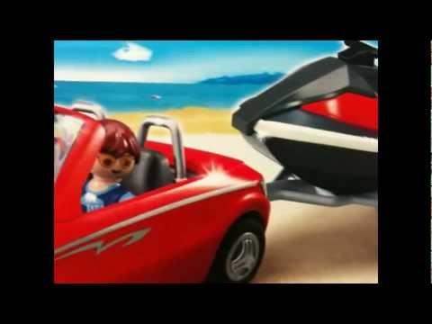 PLAYMOBIL Personal Watercraft  voiture car jet ski +TEST jet ski avec moteur