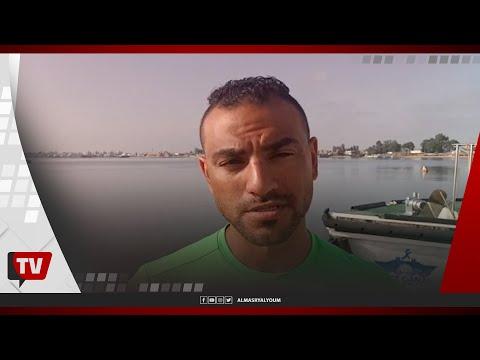 السباح المصرى سيد باروكى يستعد لعبور المانش لاول مرة فى التاريخ بالزعانف