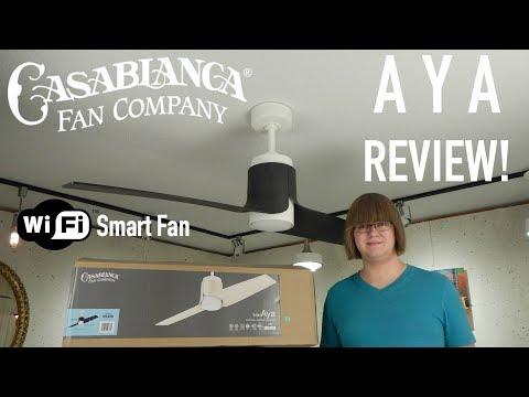 Product Review! Casablanca Aya WiFi Ceiling Fan