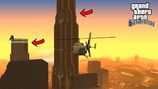 GTA San Andreas - Jumping Off The Biggest Tower (1000+ Meters)