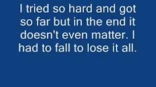 Linkin Park-In The End Lyrics