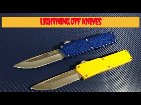 Lightning OTF D/A Automatic knives with 440 blade steel  Affordable and reliable budget autos