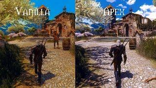 Witcher 3 Extreme modded Ultra graphic Toussaint Wiedzmin lighting mod  APEX Reshade