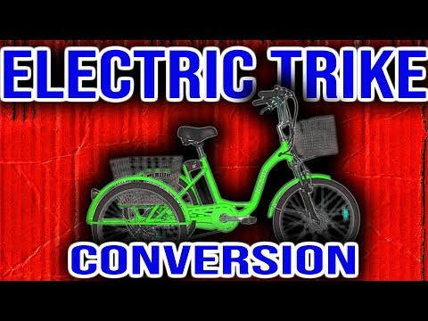 Review of 500W Electric Bike Conversion Kit. EBIKEKIT.COM Trike e-bike kit.
