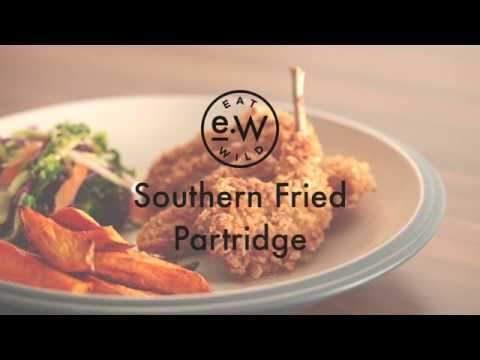 Southern Fried Partridge with Sweet Potato Chips