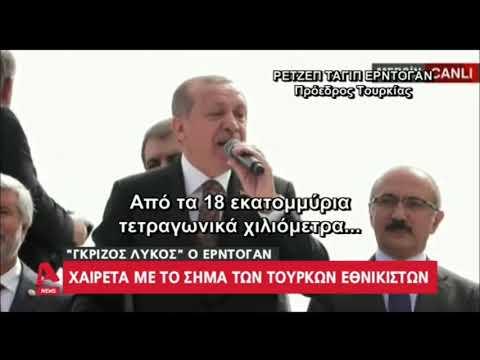 «Γκρίζος Λύκος» ο Ερντογάν: Ύψωσε το χέρι σχηματίζοντας το σήμα των εθνικιστών (βίντεο)