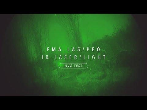 FMA LA5/PEQ UHP IR Laser/Infrared Flashlight Lens Cap [NVG Test]