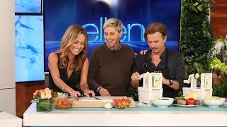 Ellen, Giada De Laurentiis and David Spade Cook... Sort Of