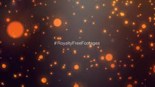 Orange bokeh effects | overlay particles background | motion background | Royalty Free Footages