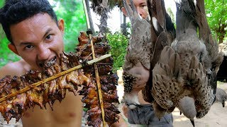 Shoot birds Near my village and Cooking Fried Dove by underground extremely delicious