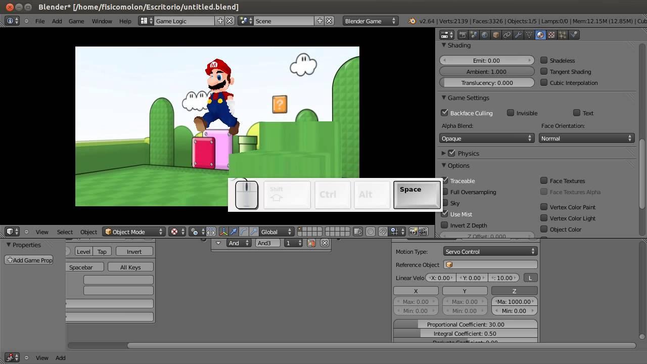 Tutorial 8: Jumping. Blender Game Engine