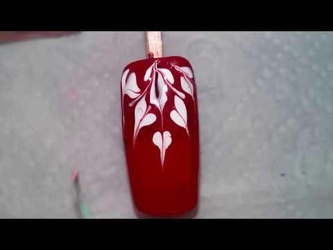Маникюр рисунки на ногтях дизайн ногтей обычными лаками и иглой №10