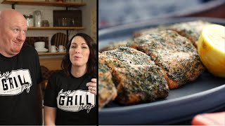 Grilled Salmon With Lemon And Dill Seasoning - How To