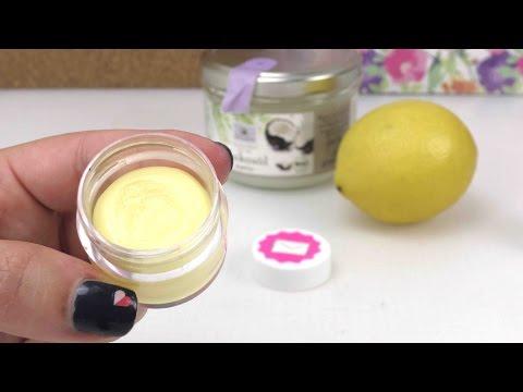 DIY Lippenpflege für den Sommer LSF und Zitrone ohne Vaseline