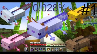 Trying to get the RAREST Axolotl in Minecraft Survival