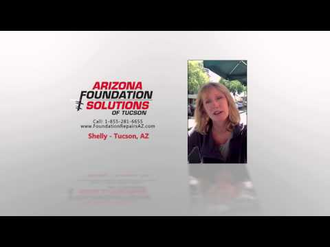 Shelly from Tucson, AZ speaks about her experience with Arizona Foundation Solutions after having her home's foundation repaired by the company.